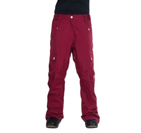 n1shop-Snowboardove-kalhoty_Dámské snowboardové kalhoty Colourwear Pant Burgundy