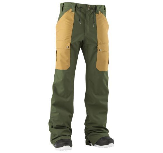 n1shop-Snowboardove-kalhoty_Pánské snowboardové kalhoty Airblaster Freedom Cargo Pant Olive