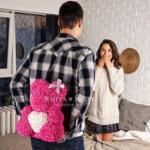 originální dárek - medvídek z růží
